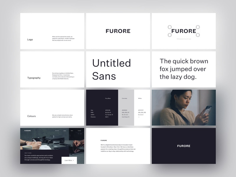 Furore Brand Guide brand guide brand identity brand logotype modern branding minimal logo