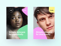 Colla Posters prints print posters poster skincare cosmetics modern branding minimal logo
