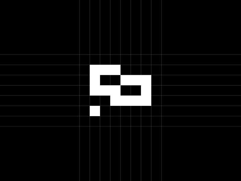 Flag Construction grid logo grid flags flag geometric monogram branding modern minimal logo