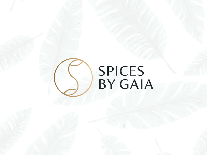 Spices by Gaia monogram boutique cooking food luxury spices modern branding minimal logo