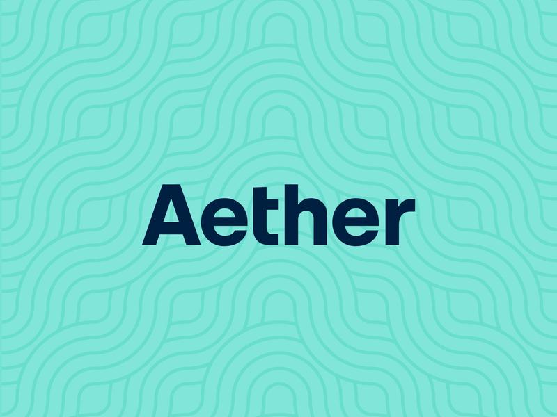 Aether Logotype modern minimal branding brand typeface type typography logotype logo
