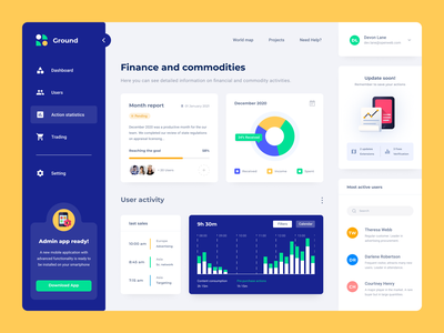 Financial dashboard ui app fintech finance web app website web design ui  ux moken design agency ui design ux design ux ui