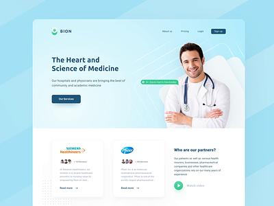 Medical Clinic UI Design web design ui  ux moken design agency ui design ux design ux ui healthtech health app healthcare health