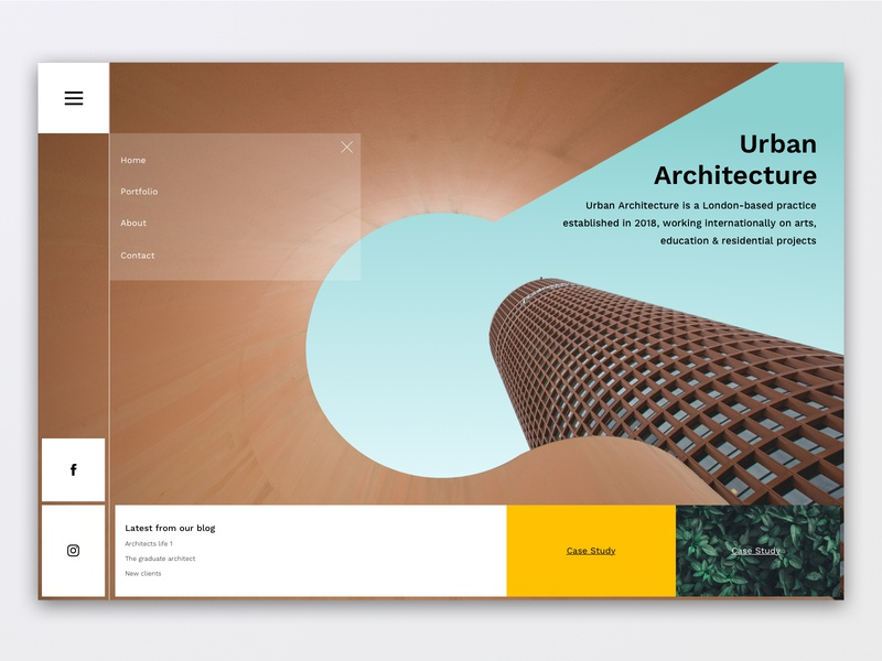 Architect Homepage UI Design menu ui hamburger modern architecture website ux design ui  ux ui  ux design ui architect