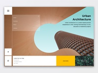 Architect Homepage UI Design