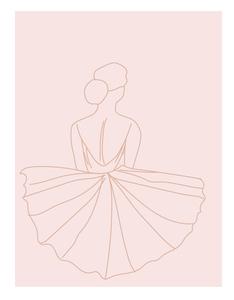 Ballerina line art work