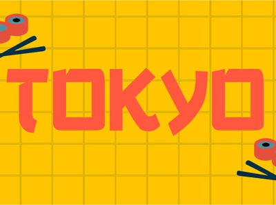 Tokyo Art typography art typography japanese art digital art graphic design vector japanese style japanese