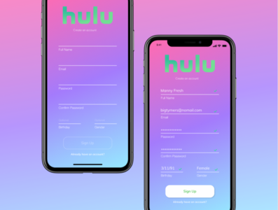 Hulu Springtime Sign Up