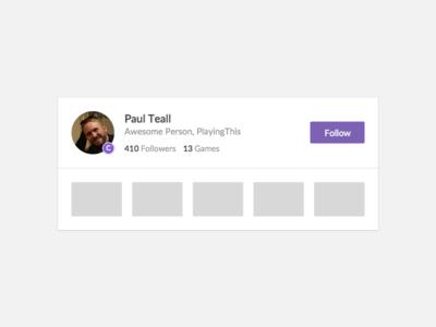 Featured Contributor Card follow minimal games playingthis contributor card