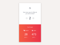 Daily UI #004 – Coffee Calculator