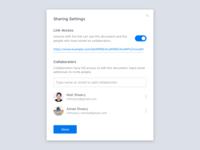 Daily UI #007 –Sharing Settings