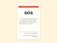 Daily UI #008 –Choose Your Own 404 page 🏰