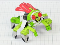 Robot Fly Monster Papercraft
