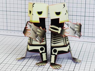 Paper Toy Skeletons
