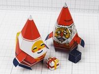 Naughty VS Nice Santa Paper Toys