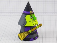 Halloween Cone Witch Paper Toy