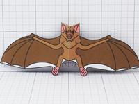 Vampire Bat Paper Toy