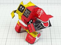 K&M Robot Paper Toy