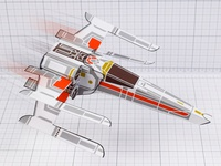 Paper Toy X-Wing Star Wars