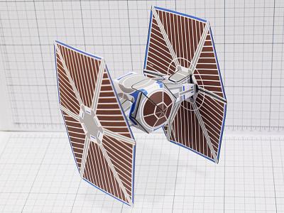 TIE Fighter Paper Toy Star Wars