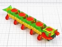 Centipede Paper Toy