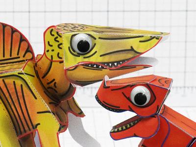 Dinosaur Paper Models