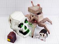 3D Pixel Monster Paper Toys