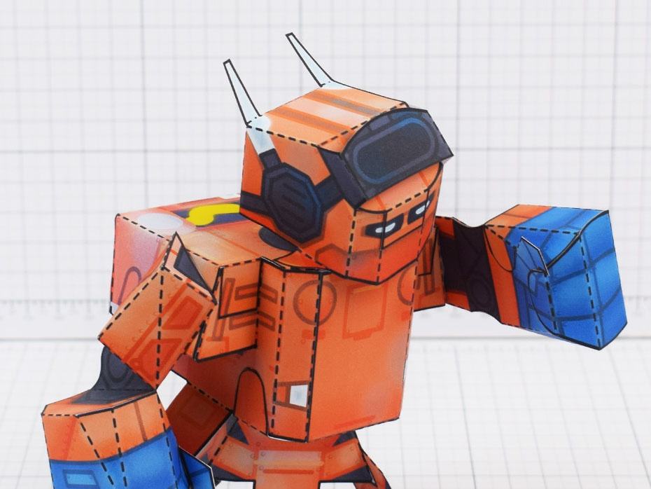 Nintendo Forge Magazine Paper Toy craft robot toy paper magazine force labo nintendo