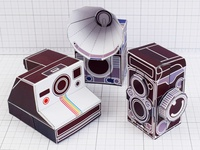 Vintage Camera Paper Toy Craft Models
