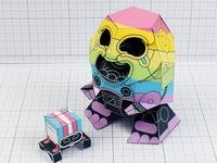 Rainbow Paper Toy