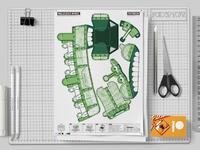 Mockup   Malicious Mimic Dungeon Paper Toy Craft Image   Mu