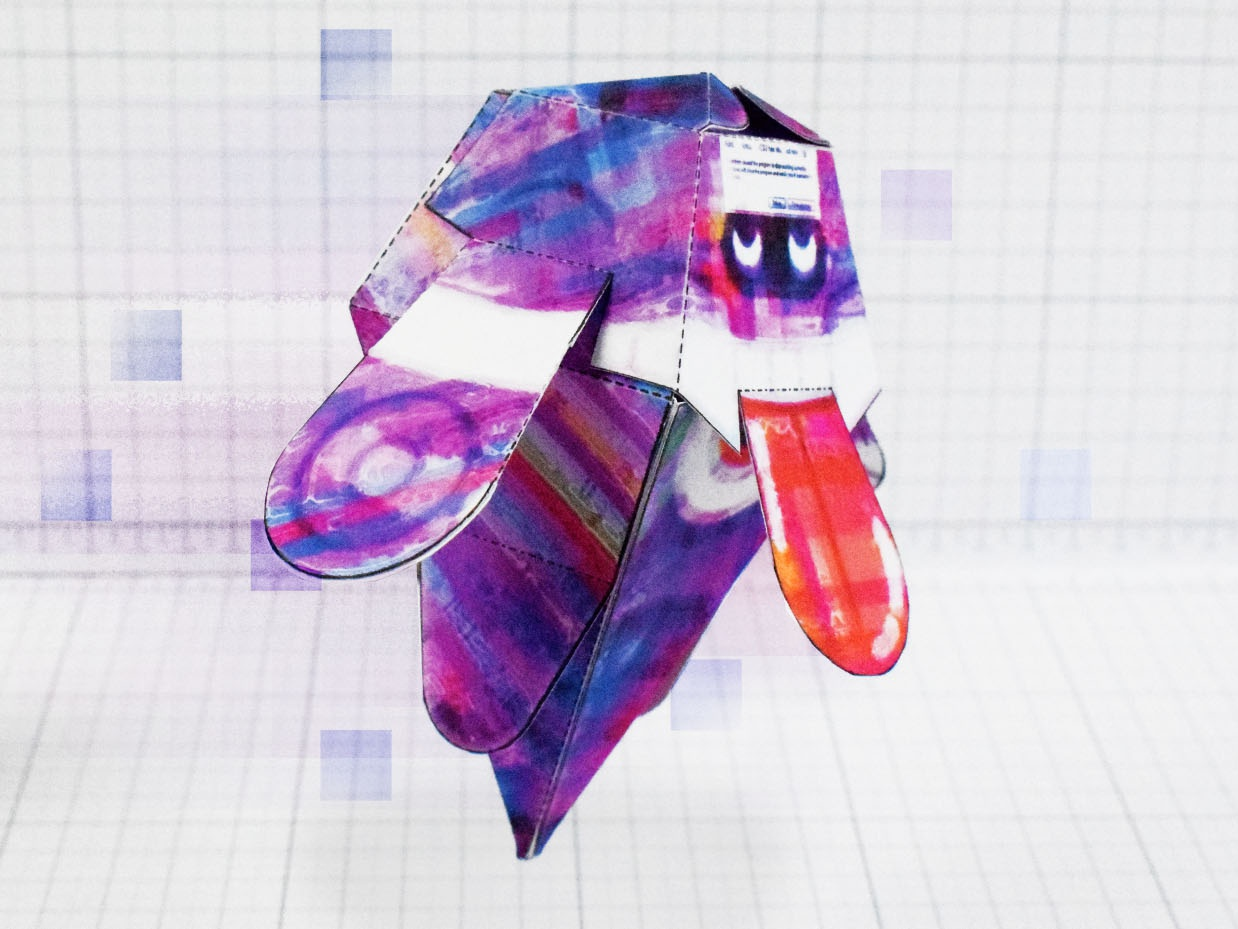 Glitch Ghost Monster Paper Toy