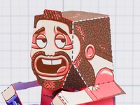 Character Face Design - Paper Toy