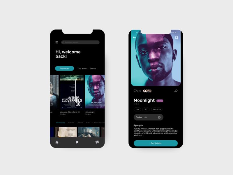 Cinema Tickets - App cinema tickets tickets design ui