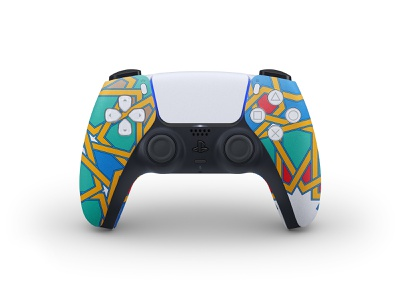 The new PS5 Controller: DualSense. From my own vision branding arabian playstation5 playstation sony pattern geometric