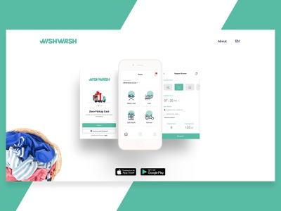 Wishwash Laundry App washing mobile concept application laundry app laundry uidesign ui  ux ux ui branding app design