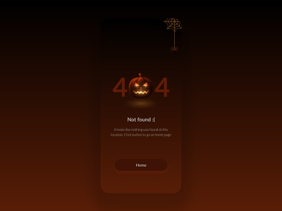 Halloween 404 page uiux halloween design ui  ux 404 page 404 halloween ui design identity illustration ui