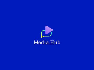 Media.Hub Logo and Branding simple lineart logo line brand identity minimalist logo vector logo design mark print creative develope brand modern logo modern icon illustration flat branding logo