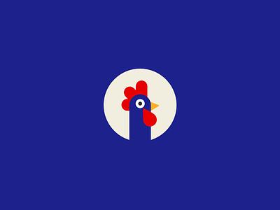 Roosty Mobile Game Logo minimal character design rooster bird design de brand identity mark game icon game ui game app illustration ux mobile game graphic design ui identity branding icon logo
