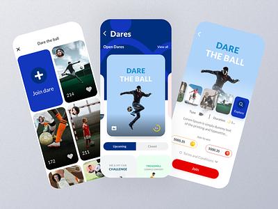 UGU Dares UI Screens light ui startup application product design interface minimal concept mobile design mobile app clean ux social media app design app user experience uiux modern ui clean ui ux ui