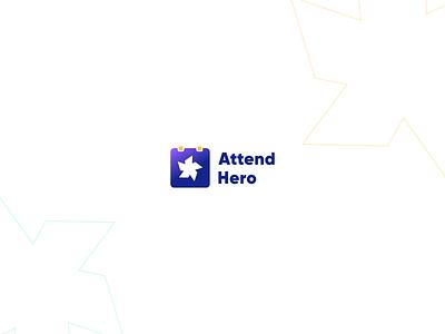 Attend Hero Logo design flat logo design app logo app vector minimal modern ui minimalist gradient logo modern logo brand identity icon design startup pattern ux ui design identity logo branding