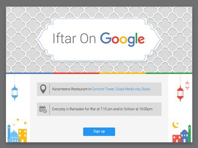 Iftar On Google