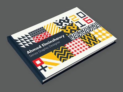 My Portfolio Cover geometric pattern designer portfolio cv cover