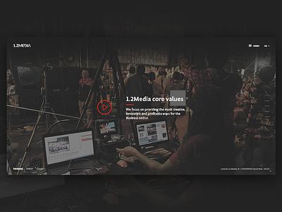 1.2 Media home page header slider company website red gray black media website