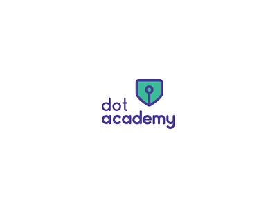 Dot Academy Logo logo design illustration dot academy academy logo academy identity branding logo