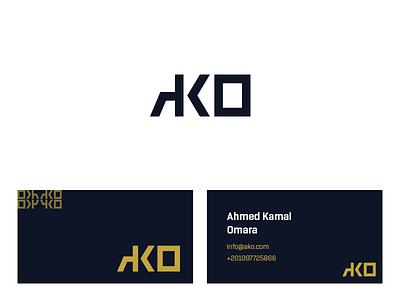 Studio AKO Logo identity business card retouching card studio logo studio logo ako