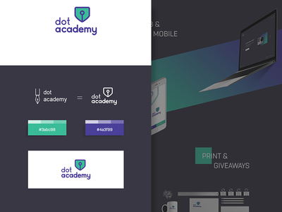 Dotacademy Brand Identity behance presentation logo design illustration dot academy academy logo academy identity branding logo
