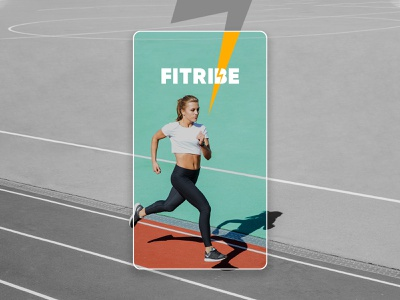 Fitribe Fitness Mobile App splash screen ui  ux design logo sport app fitness app fitness branding identity ux design ui
