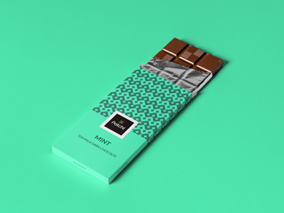 Patchi Chocolate packaging illustration geometric design branding pattern