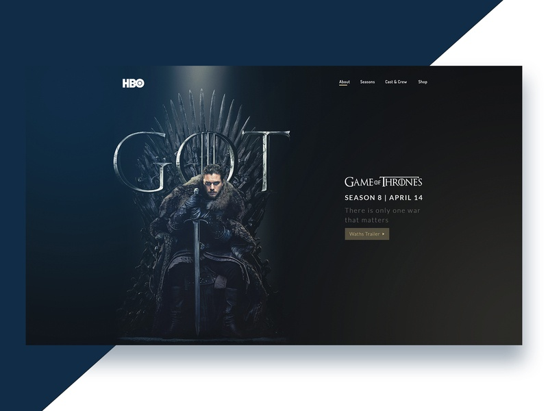 Got Season 8 branding hbo header season 8 game of thrones got ui design